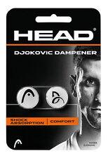 Nuovi HEAD DJOKOVIC DAMPENER TENNIS / SHOCK ABSORBER 1 Paio HEAD SHOCK DAMP
