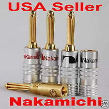 24 pcs Nakamichi Speaker banana plug connector 24K N0534D USA Design & Shipping