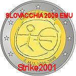2 EURO COMMEMORATIVO SLOVACCHIA 2009 EMU 10 Anni EURO
