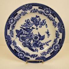 """Ashworth C1862-90 Flow Blue Dinner Plate KIJI  10 3/8"""" No Chips, Cracks, Crazing"""