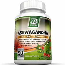 Suplemento Dietario Raíz Ashwagandha Polvo Cápsulas Vegetarianas BRI Nutrition