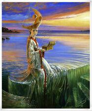 "VV1054 Art Print Surrealist oil painting on canvas Home decoration 12""x16''"