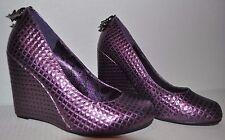 Iron Fist Purple Metallic Wedge US 7 EUR 38 Geometric Wedges