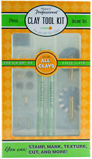 Makin's Professional Clay Tool Kit Set Makins 24 pcs Cutters Texture Points