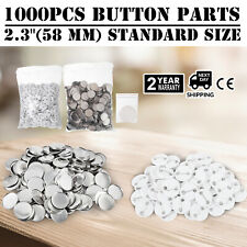 Diy Badge Button Maker Supplies/Parts Metal Pin Back 58mm Round 1000 Parts Us
