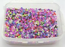 5000 Mixed lined inside Colour Glass Seed Beads 2mm (10/0) + Storage Box