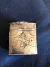 Antique Dutch Silver Peppermint Box Willem Lobensteijn 1873