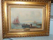 Marine huile sur toile par Albert BERN je pense des pecheurs Breton