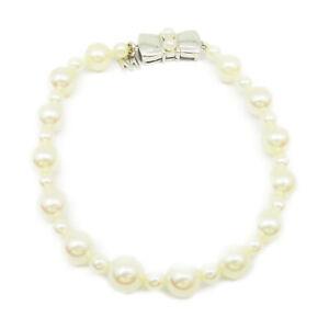 MIKIMOTO Bracelet 18K WhiteGold Pearl white 1615
