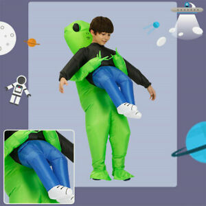 Inflatable Adult Fancy Funny Dress Costume Halloween Alien Blowup Party Fat Suit