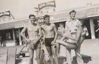 Vintage Gay Beach Buddies Photo 260 Bizarre Odd Strange