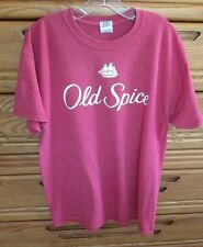 Old Spice Fragrance T-Shirt Men's Large Red Soft Cotton Poly Big White Logo
