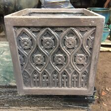 32cm CLEARANCE Faux Lead Fibreclay Moroccan Square Planter/Box/Pot