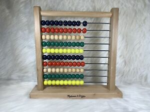 MELISSA & DOUG~Abacus~Classic~Wooden~Educational Counting Toy ~100 Beads