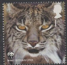 IBERIAN LYNX/CATS/WWF/GB 2011 UM MINT STAMP
