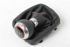 Genuine Audi A3 S3 2003-2013 Sport Leather Gear Shift Knob With Boot Black Red