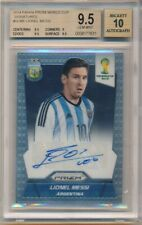 LIONEL MESSI 2014 PANINI PRIZM WORLD CUP ROOKIE AUTOGRAPH SP AUTO BGS 9.5 GEM 10