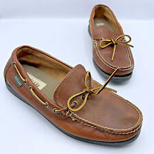 Eastland Yarmouth Men Brown Leather Slip On Boat Moccasin Shoe Size 10D