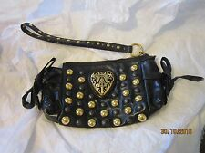 Gucci Calfskin Black Babouska Studded Clutch - Excellent Condition