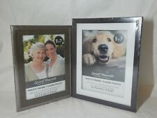 """2 Picture Frames 5"""" x 7"""" Photo frame Wall mount or easel back Glass Pane"""