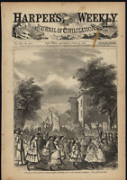 Parade of the Brooklyn Sunday-School Children New York 1868 Harpers Weekly Print
