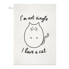 Non sono SINGOLO HO UN GATTO asciugamani Dish Cloth-Crazy Cat Lady gattino Funny