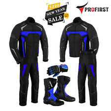 Motorcycle Motorbike Suit Jacket Trouser Bike Riding Suits Leather Gloves Boots