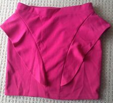 New Pink Peplum Fashion Skirt Australian Made Party, Going Out, Size Small/8