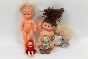 Lot of 5 small dolls Orphan Annie Holly Hobbie Alice Cabbage Patch Baby doll
