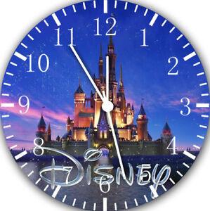Disney Castle Frameless Borderless Wall Clock E19 Nice For Gifts or Home Decor