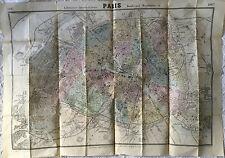 PLAN DE LA VILLE DE PARIS DE L ANNÉE 1867