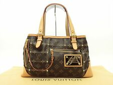 Louis Vuitton Auth Monogram Rivets Riveting Shoulder Hand Bag Purse Auth LV