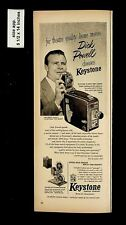 1953 Keystone Camera Co Dick Powell Video Vintage Print Ad 015767