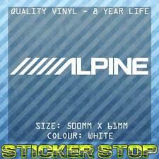 ALPINE VINYL STICKER (50cm, WHITE) AUDIO DECAL, CAR, WINDOW
