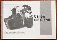 Canon EOS 50 / 50E  - Anleitung