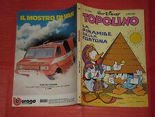 WALT DISNEY- TOPOLINO libretto- n° 1344 b - originale mondadori- anni 60/80