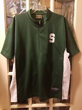 Michigan State Spartans 1/2 Zip Warm Up Shooting Jersey Shirt Adult L Bridges