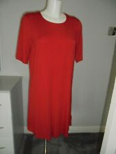 M&S MARKS & SPENCER RED JERSEY SWING DRESS WITH STRETCH UK SIZE 14 SHORT