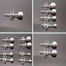 316L Stainless Steel 3-6mm Ball Stud Earrings Single Pair Multi Pack Unisex UK