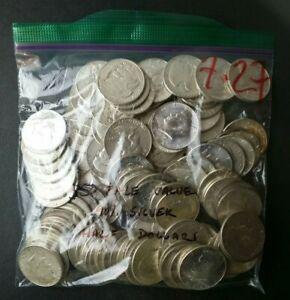 Bag of 100 50c United States Silver Half Dollars