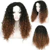 Wigs Afro Kinky Ombre Curly Dark Brown Wigs For Women Short Curly Wig Full Wig