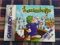 Lemmings - Authentic - Nintendo Game Boy Color - GBC - Manual Only!