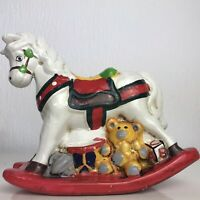 Vintage Ceramic Rocking Horse Money Box Piggy Bank Made In Taiwan