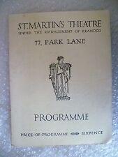 St Martin's Theatre Programme 77 PARK LANE- Billy Speechley, Walter Hackett