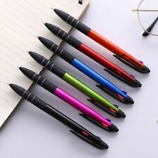 Multi Colour 3 In 1 Retractable Ballpoint Pen Ball Gel Pens 0.5mm School Supply
