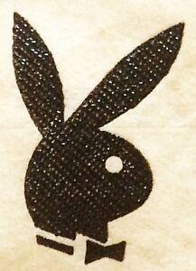 Original Vintage Playboy Bunny Micro Mini Iron On Transfer Black