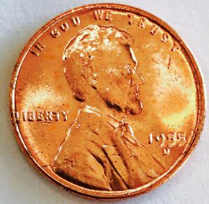1955 D LINCOLN WHEAT CENT! KNOCKOUT PIECE! RED BLAZER! GEM BU+++WOW NR #M332_272