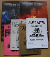 METAL GODS 1+2 / HM COLLECTOR RARE RECORDS 8,9,10,11 - 6x HEAVY METAL Zines!!