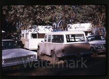 1968 kodachrome photo slide Chrysler car International Travelall station wagon