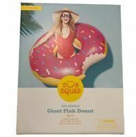 4' Ft Giant Pink Donut Inflatable Party Pool Float Tube Raft - Sun Squad
